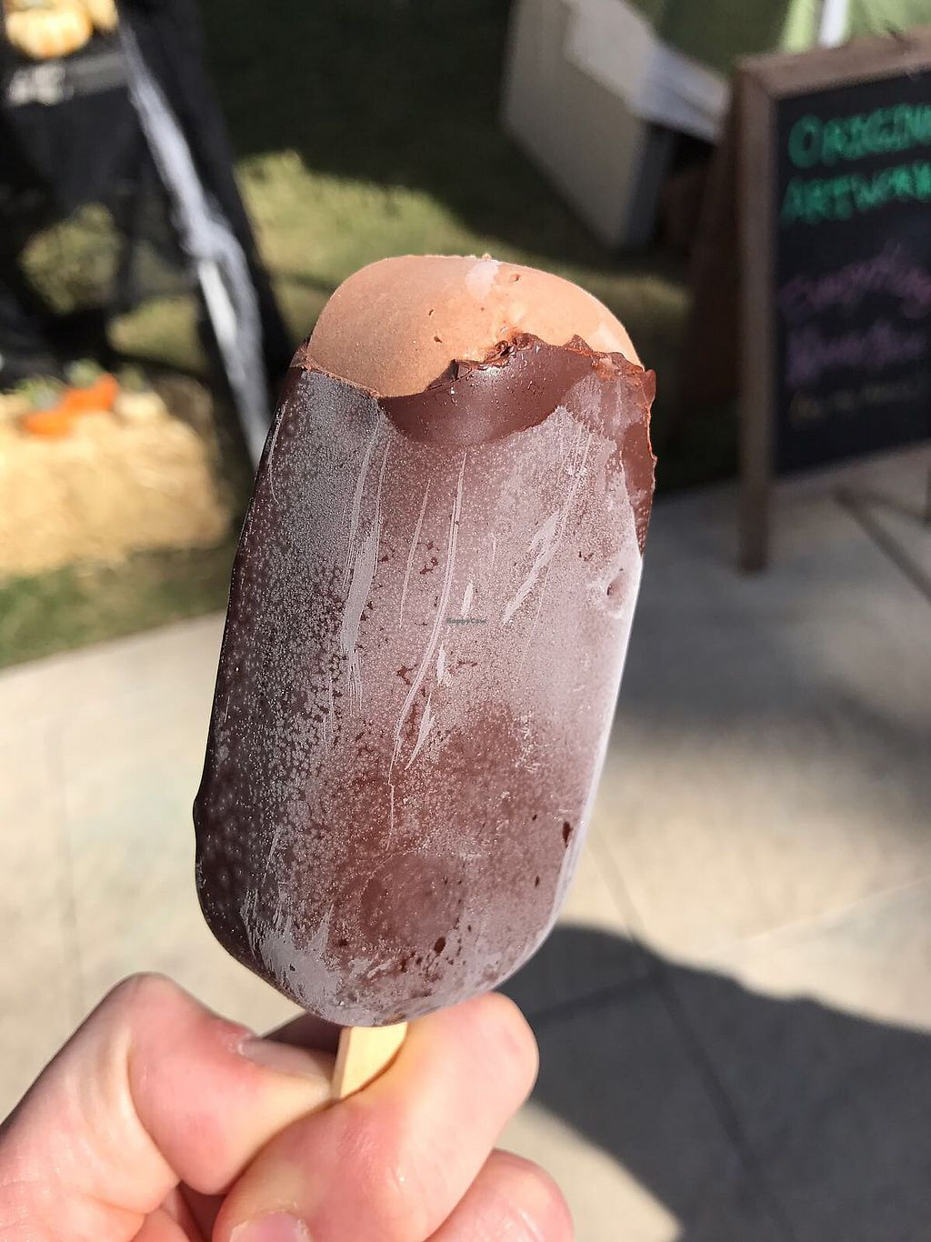 "Photo of Conscious Creamery  by <a href=""/members/profile/Breda"">Breda</a> <br/>Chocolate Fudge bar <br/> October 16, 2017  - <a href='/contact/abuse/image/80608/315723'>Report</a>"