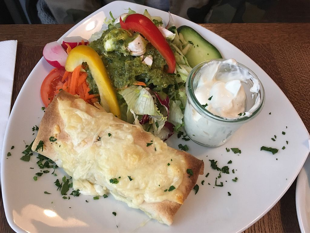 """Photo of Cafe Lulu  by <a href=""""/members/profile/monisonfire"""">monisonfire</a> <br/>vegetarian wrap <br/> February 5, 2018  - <a href='/contact/abuse/image/80610/355296'>Report</a>"""