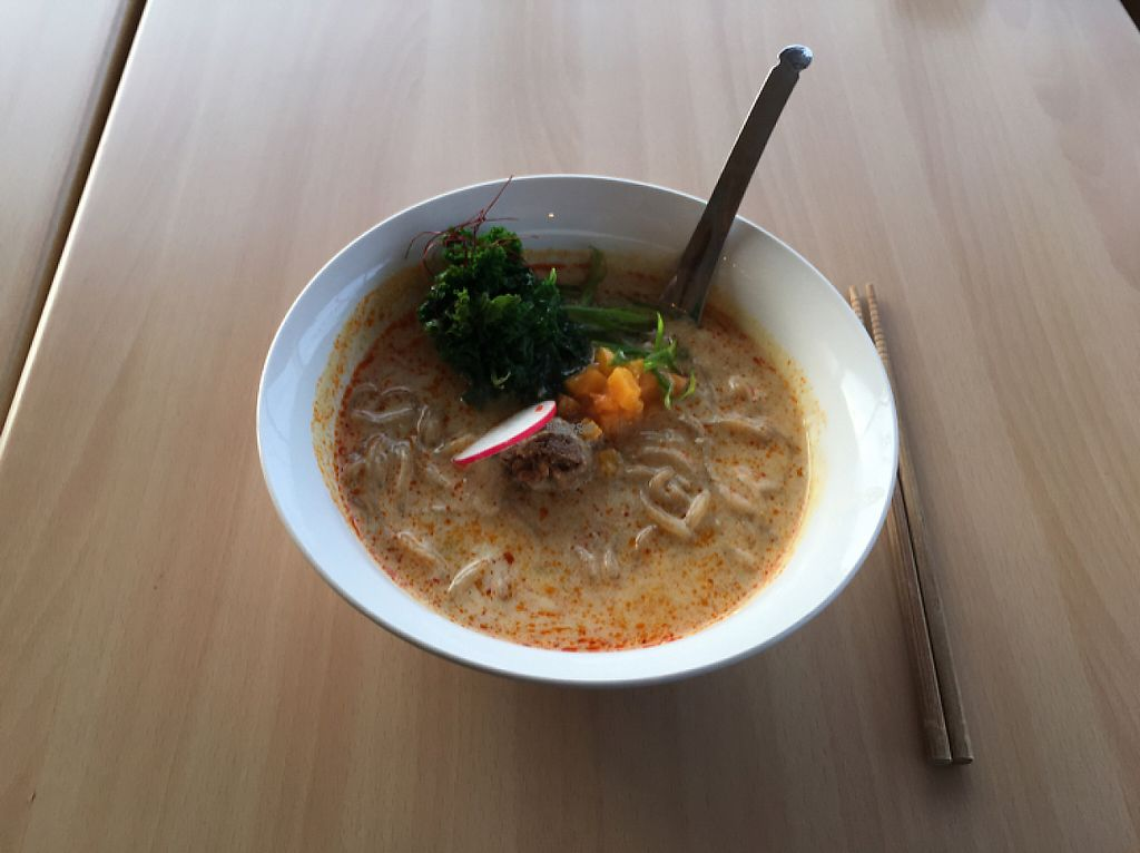 """Photo of The Workshop Vegetarian Cafe  by <a href=""""/members/profile/Zo"""">Zo</a> <br/>Tam Tam their seasonal Ramen <br/> December 21, 2016  - <a href='/contact/abuse/image/80617/203922'>Report</a>"""