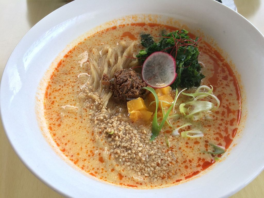 """Photo of The Workshop Vegetarian Cafe  by <a href=""""/members/profile/Mdrutz"""">Mdrutz</a> <br/>Spicy ramen <br/> December 4, 2017  - <a href='/contact/abuse/image/80617/332337'>Report</a>"""