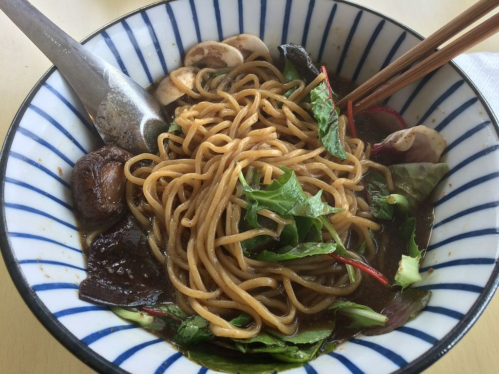"""Photo of The Workshop Vegetarian Cafe  by <a href=""""/members/profile/Mdrutz"""">Mdrutz</a> <br/>Shoyu ramen after noodles mixed up <br/> December 4, 2017  - <a href='/contact/abuse/image/80617/332338'>Report</a>"""