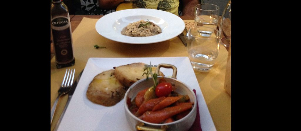 """Photo of Cantine Bernardini  by <a href=""""/members/profile/AliciaPiccolina"""">AliciaPiccolina</a> <br/>Mains- a risotto and a roasted vegetable dish <br/> January 17, 2017  - <a href='/contact/abuse/image/80621/212592'>Report</a>"""