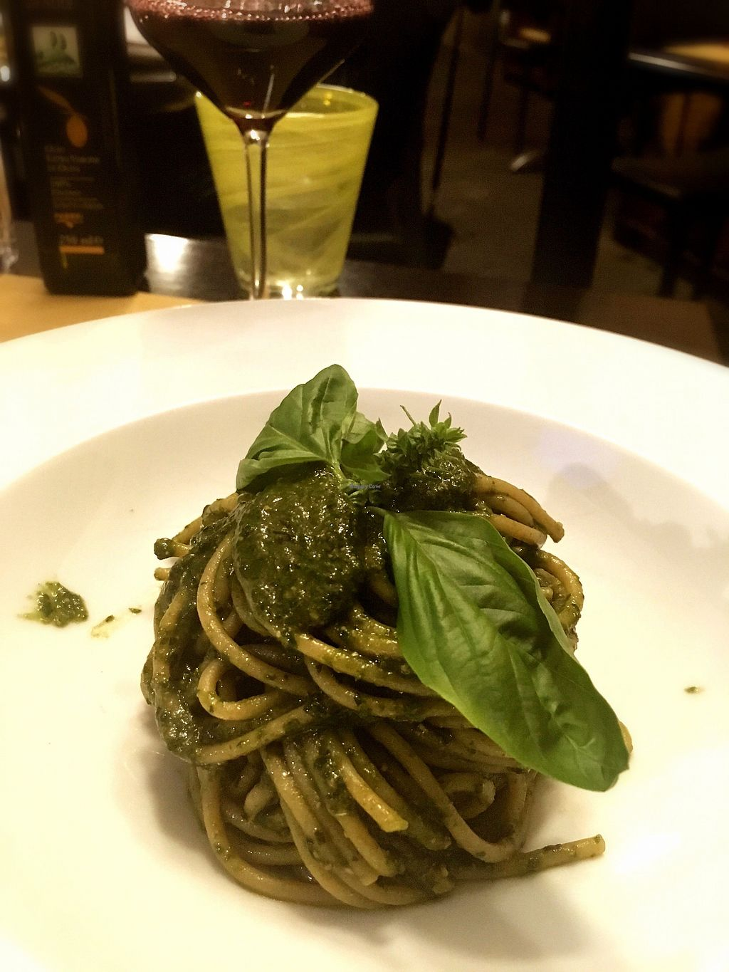 """Photo of Cantine Bernardini  by <a href=""""/members/profile/FranMcgarryArtist"""">FranMcgarryArtist</a> <br/>Pasta with pesto and Mint Vegan <br/> September 15, 2017  - <a href='/contact/abuse/image/80621/304651'>Report</a>"""