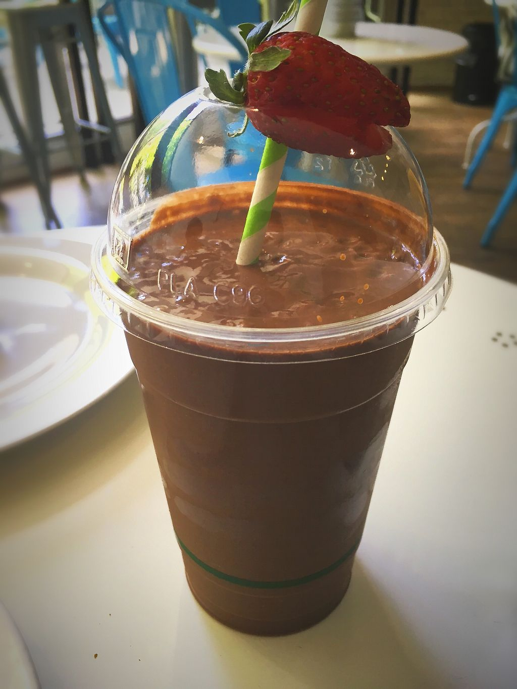 """Photo of OM Vegan Kitchen  by <a href=""""/members/profile/Mslanei"""">Mslanei</a> <br/>Sacred chocolate milkshake  <br/> November 8, 2017  - <a href='/contact/abuse/image/80628/323171'>Report</a>"""