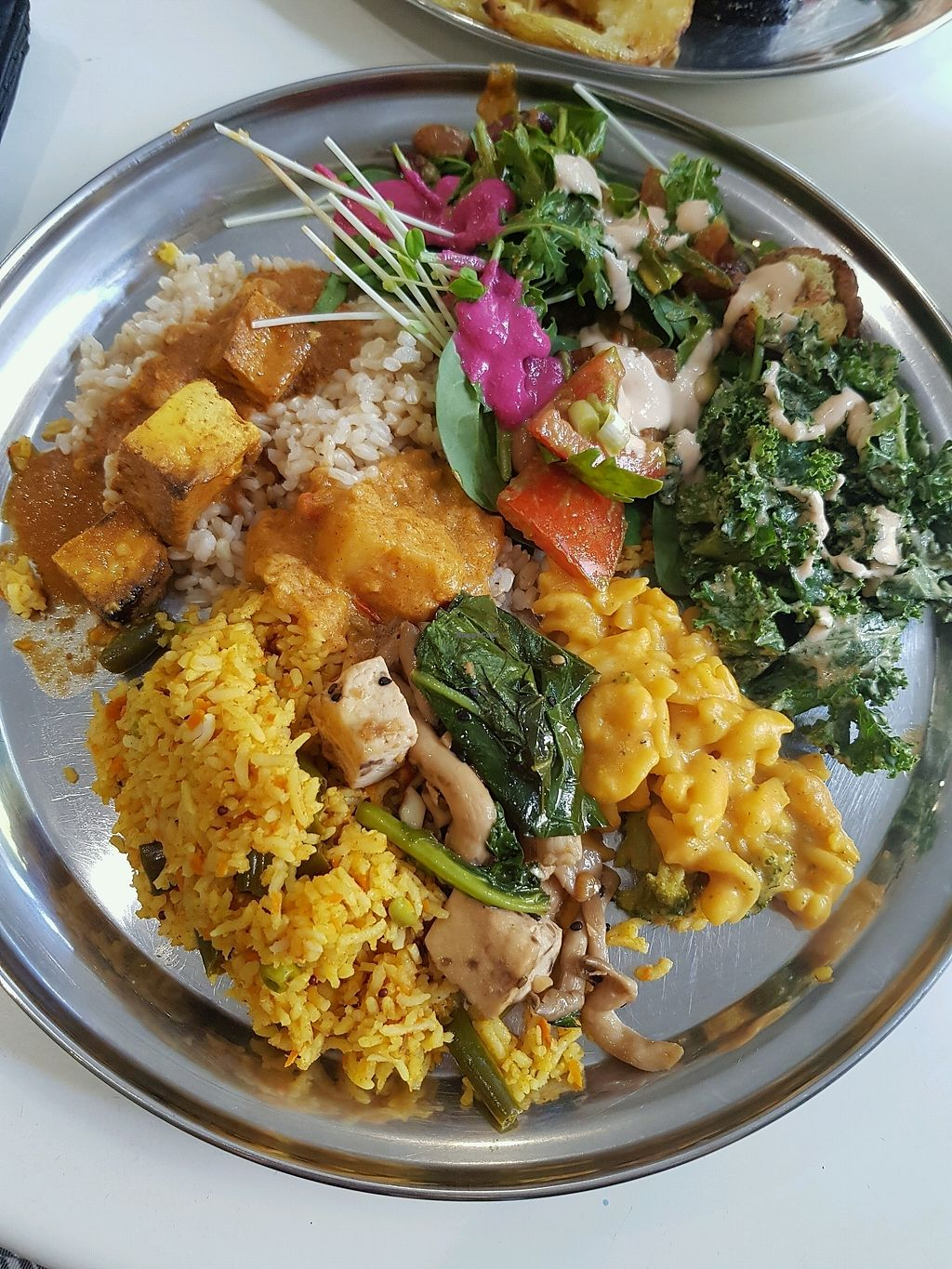 """Photo of OM Vegan Kitchen  by <a href=""""/members/profile/VeganAssass1n"""">VeganAssass1n</a> <br/>lunch plate from buffet <br/> February 27, 2018  - <a href='/contact/abuse/image/80628/364303'>Report</a>"""