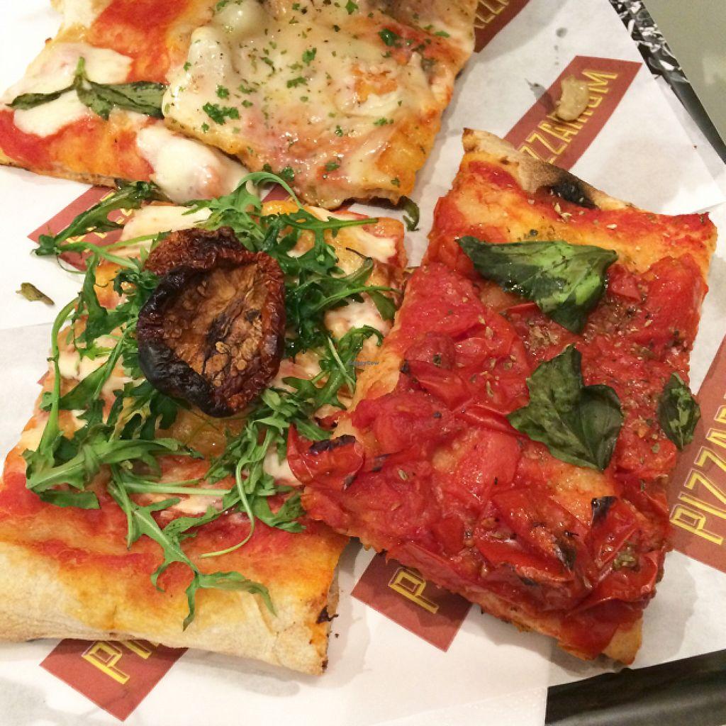 "Photo of Pizzarium  by <a href=""/members/profile/Veg_Anu"">Veg_Anu</a> <br/>Vegan pizzas <br/> June 6, 2017  - <a href='/contact/abuse/image/80630/266430'>Report</a>"