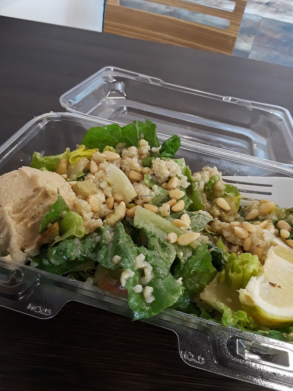 """Photo of The Salad Box  by <a href=""""/members/profile/anastronomy"""">anastronomy</a> <br/>Not your typical ceaser salad <br/> October 30, 2017  - <a href='/contact/abuse/image/80631/320238'>Report</a>"""