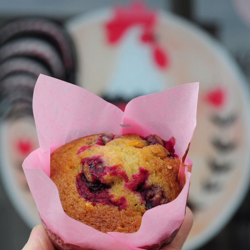 """Photo of Cock-A-Doodle-Doo  by <a href=""""/members/profile/macdenser"""">macdenser</a> <br/>Cranberry orange gluten-free muffin <br/> September 27, 2016  - <a href='/contact/abuse/image/80655/178231'>Report</a>"""