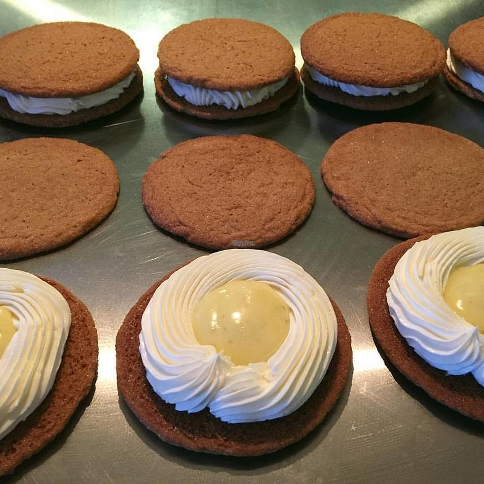 """Photo of KitchChick Sweets & Cakery  by <a href=""""/members/profile/community"""">community</a> <br/>Key Lime Cheesecake Cookie Sandwich <br/> October 13, 2016  - <a href='/contact/abuse/image/80658/181667'>Report</a>"""