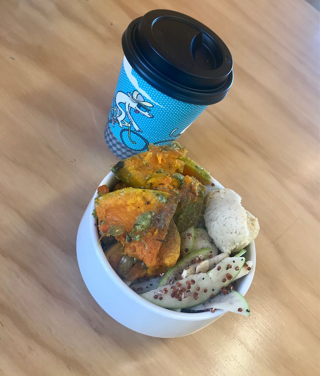 """Photo of Ramble + Ritual  by <a href=""""/members/profile/LenaHaapala"""">LenaHaapala</a> <br/>Salad and flat white for breakfast  <br/> April 11, 2018  - <a href='/contact/abuse/image/80674/383740'>Report</a>"""