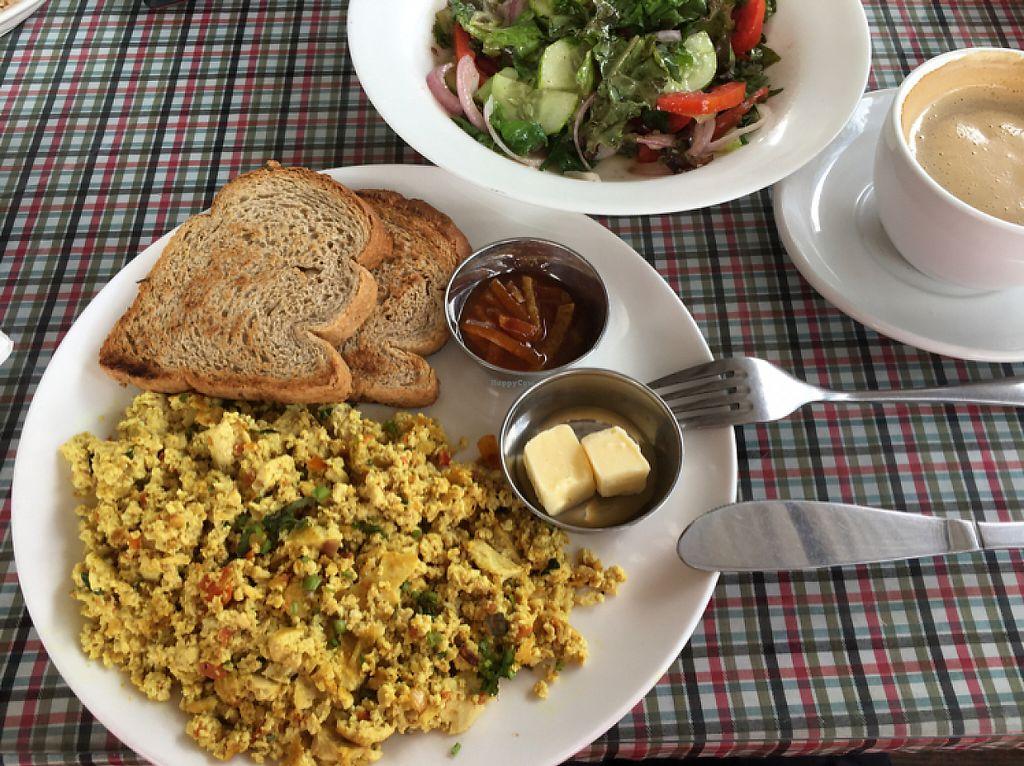 """Photo of Sarangi Vegetarian Restaurant  by <a href=""""/members/profile/Yuliya"""">Yuliya</a> <br/>tofu scramble and salad, good food <br/> May 27, 2017  - <a href='/contact/abuse/image/80681/263021'>Report</a>"""