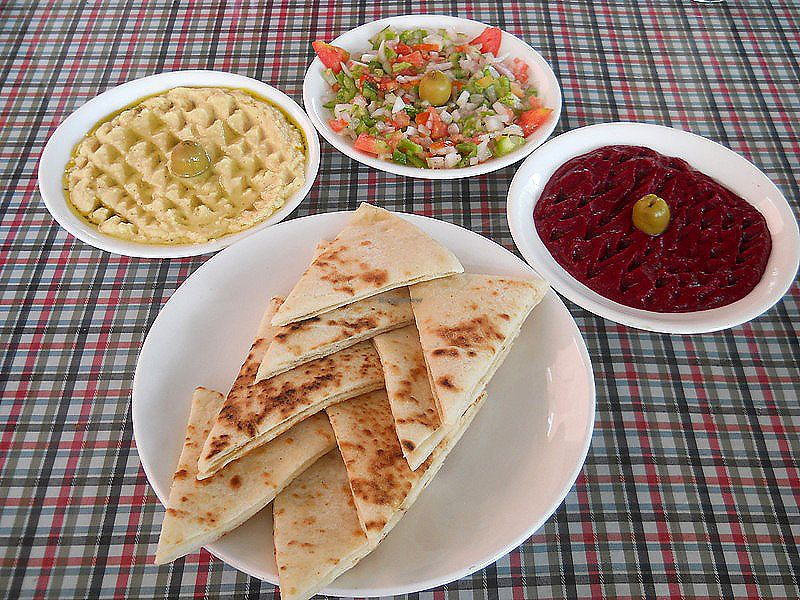 """Photo of Sarangi Vegetarian Restaurant  by <a href=""""/members/profile/Masala-Dosa"""">Masala-Dosa</a> <br/>Guacamole, salsa, beetroot dip & pita bread <br/> August 12, 2017  - <a href='/contact/abuse/image/80681/291885'>Report</a>"""