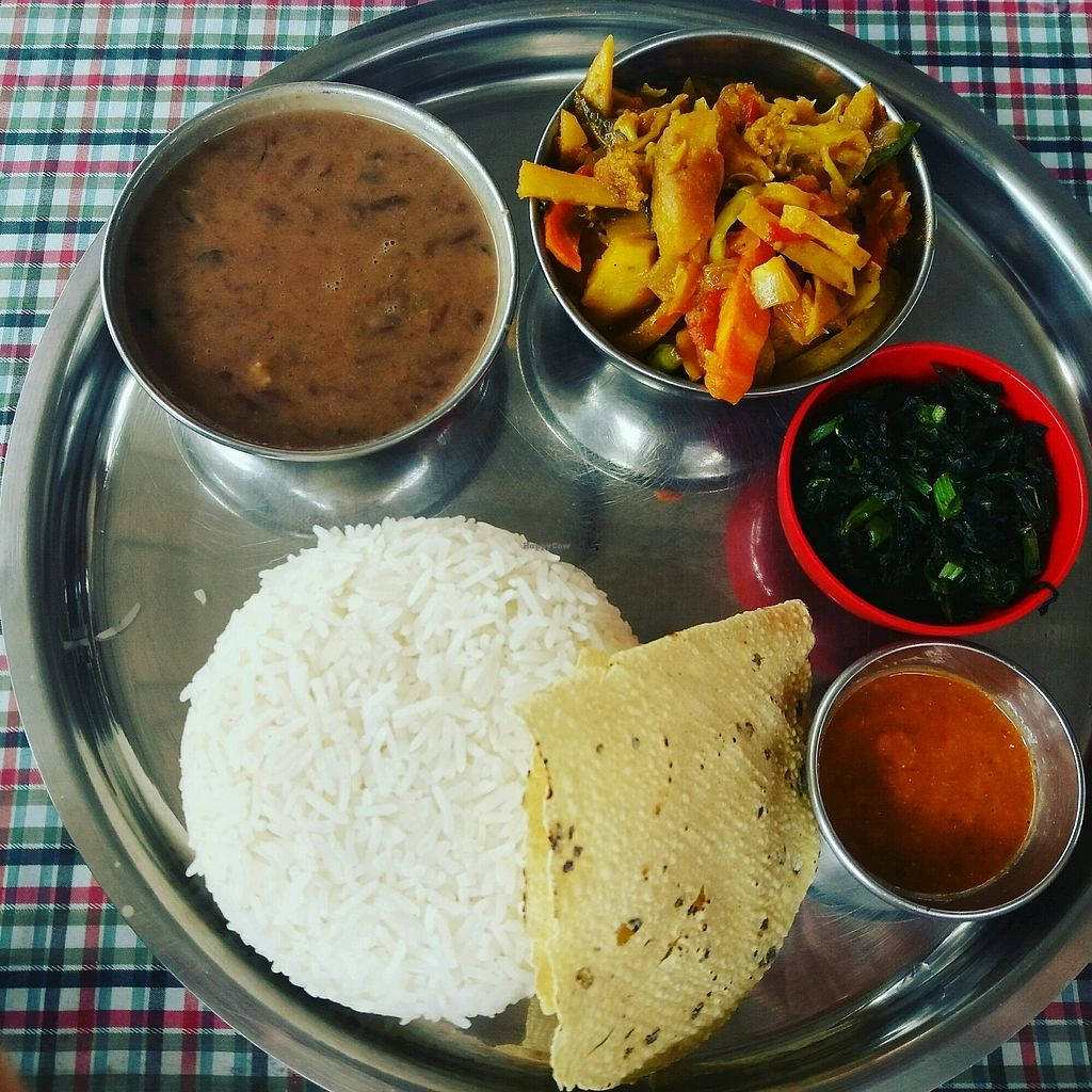 """Photo of Sarangi Vegetarian Restaurant  by <a href=""""/members/profile/thehappychickpea"""">thehappychickpea</a> <br/>vegan dhal <br/> September 11, 2017  - <a href='/contact/abuse/image/80681/303182'>Report</a>"""