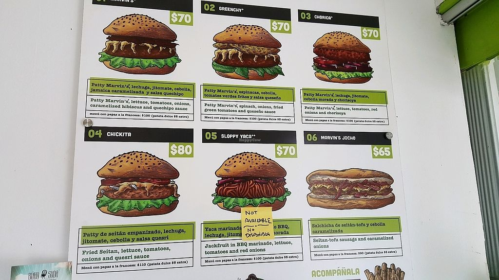 """Photo of Marvin's Burgers  by <a href=""""/members/profile/SetaYanikian"""">SetaYanikian</a> <br/>menu <br/> September 7, 2017  - <a href='/contact/abuse/image/80699/301759'>Report</a>"""