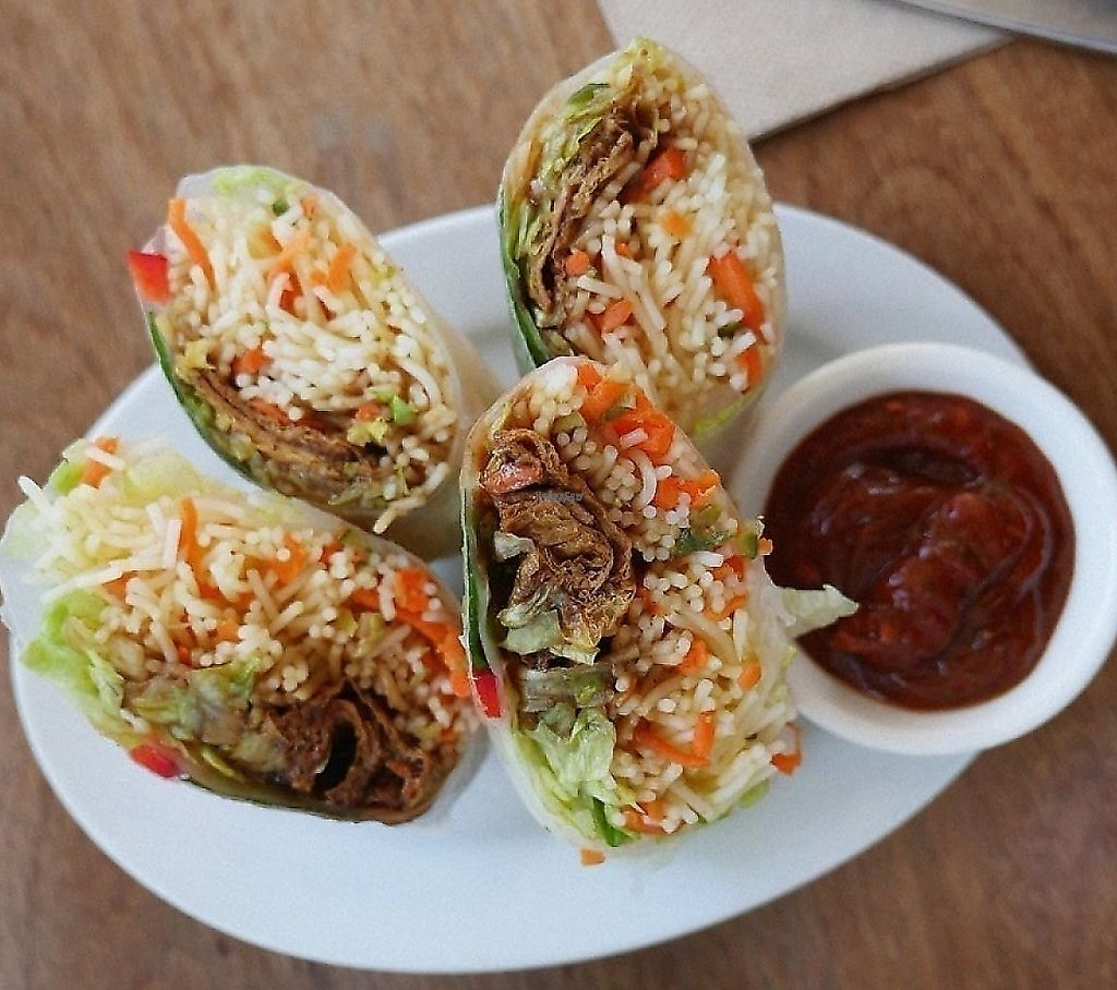 """Photo of Iku Whole Food - North Sydney  by <a href=""""/members/profile/community"""">community</a> <br/>vegan wraps <br/> January 27, 2017  - <a href='/contact/abuse/image/80714/248734'>Report</a>"""
