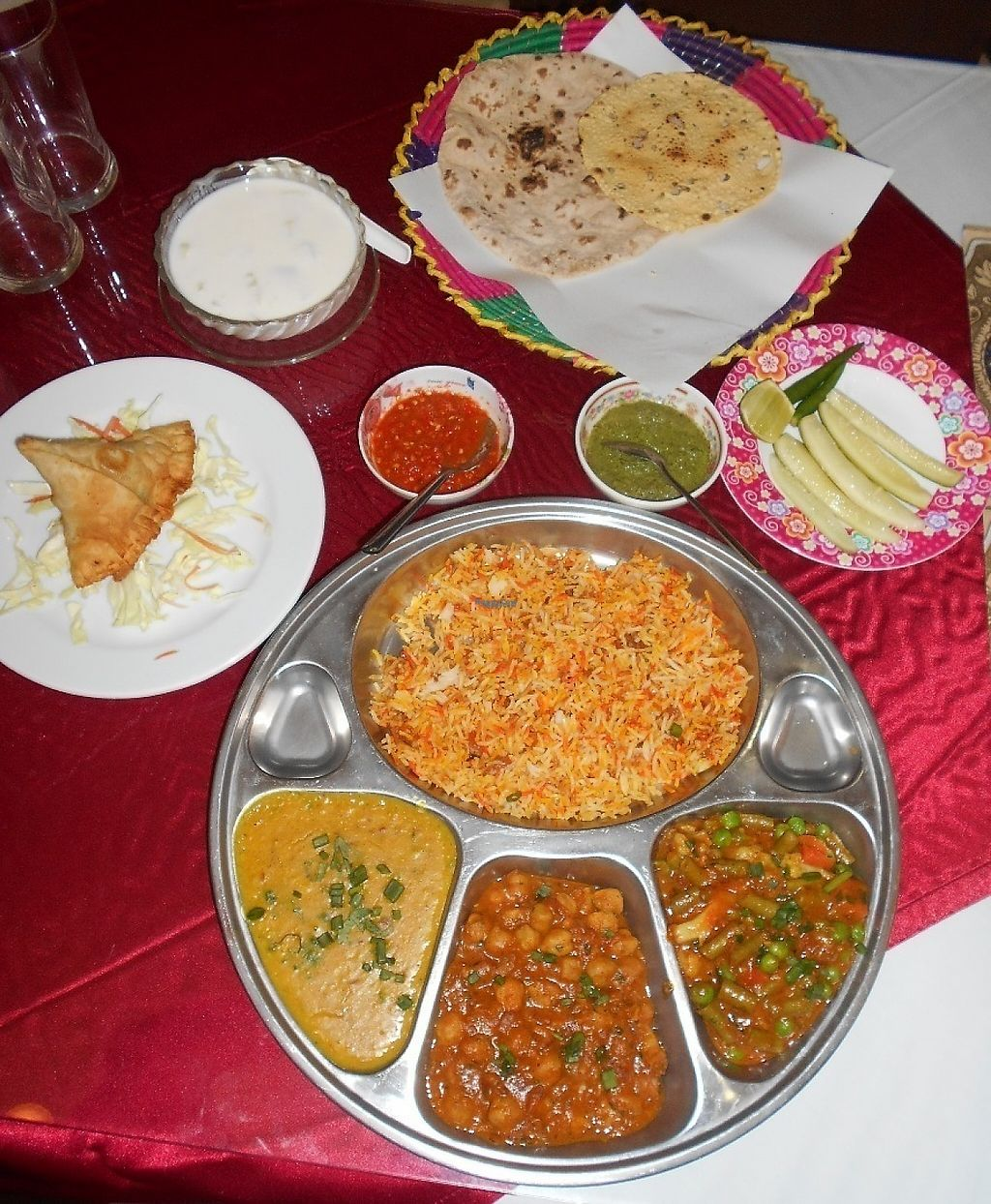 """Photo of Dubai Indian and Arabic Restaurant  by <a href=""""/members/profile/Kelly%20Kelly"""">Kelly Kelly</a> <br/>Al-Diwan 11 - huge and delicious thali! <br/> January 23, 2017  - <a href='/contact/abuse/image/80733/215474'>Report</a>"""