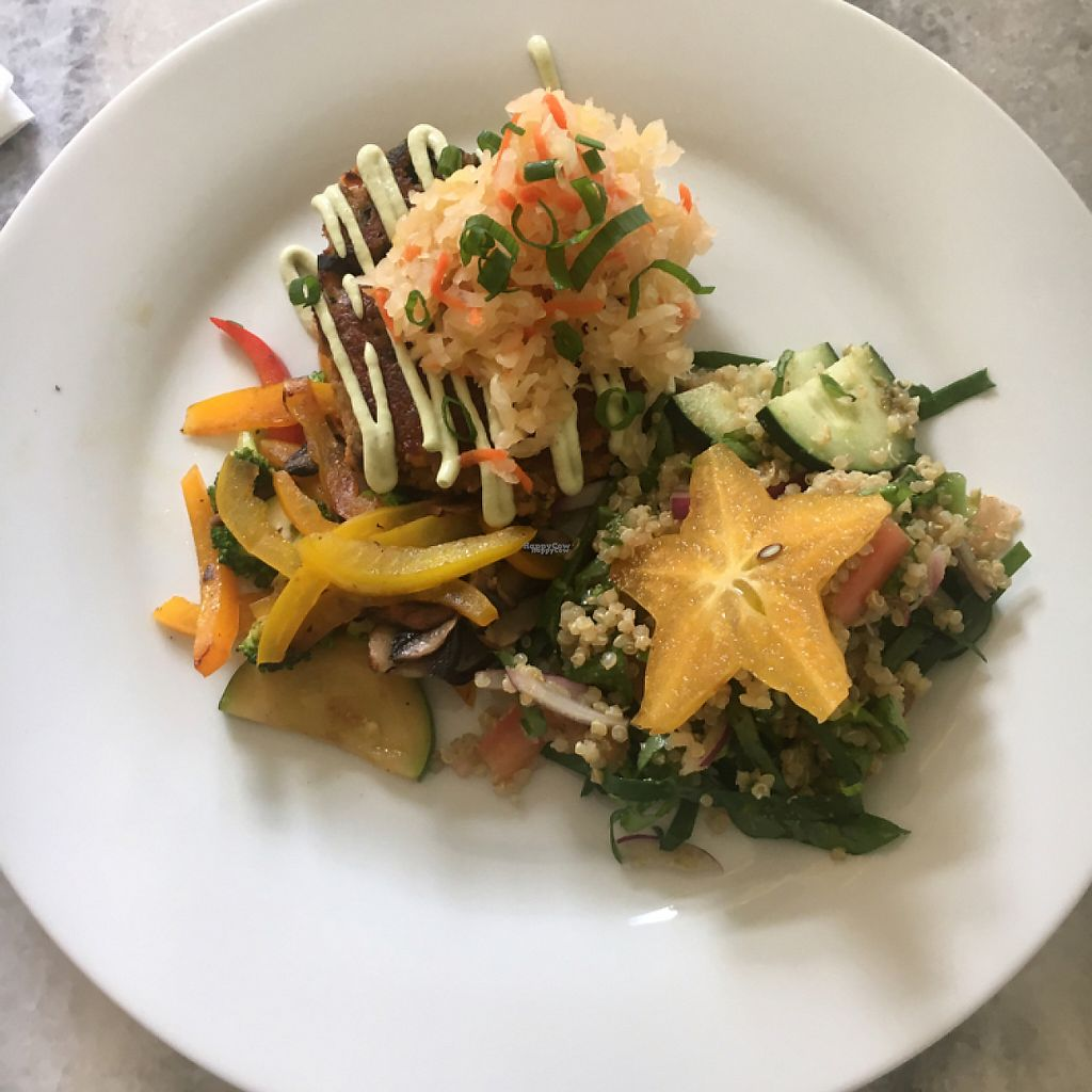 """Photo of The Dreamcatcher  by <a href=""""/members/profile/Poliesquee"""">Poliesquee</a> <br/>vegan breakfast patty and quinoa salad <br/> November 13, 2016  - <a href='/contact/abuse/image/80741/189709'>Report</a>"""
