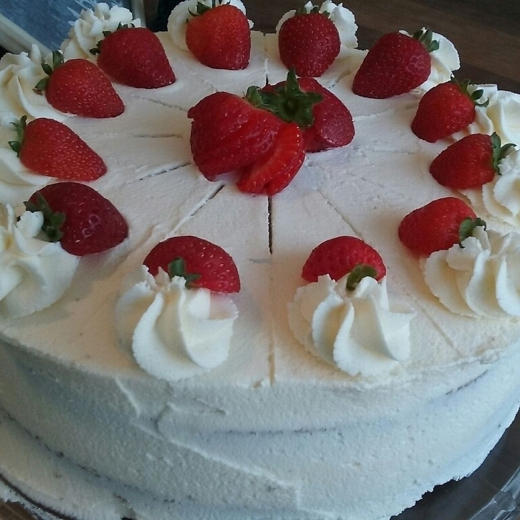 """Photo of The Pie Parlour & Bakery  by <a href=""""/members/profile/Thepieparlour"""">Thepieparlour</a> <br/>vegan strawberry and vanilla cakes <br/> April 8, 2017  - <a href='/contact/abuse/image/80742/245840'>Report</a>"""