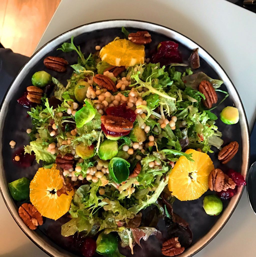 "Photo of Vers  by <a href=""/members/profile/VeganDooby"">VeganDooby</a> <br/>Vegan salad option with Brussels sprouts, pecans and cranberries  <br/> February 21, 2017  - <a href='/contact/abuse/image/80743/228854'>Report</a>"