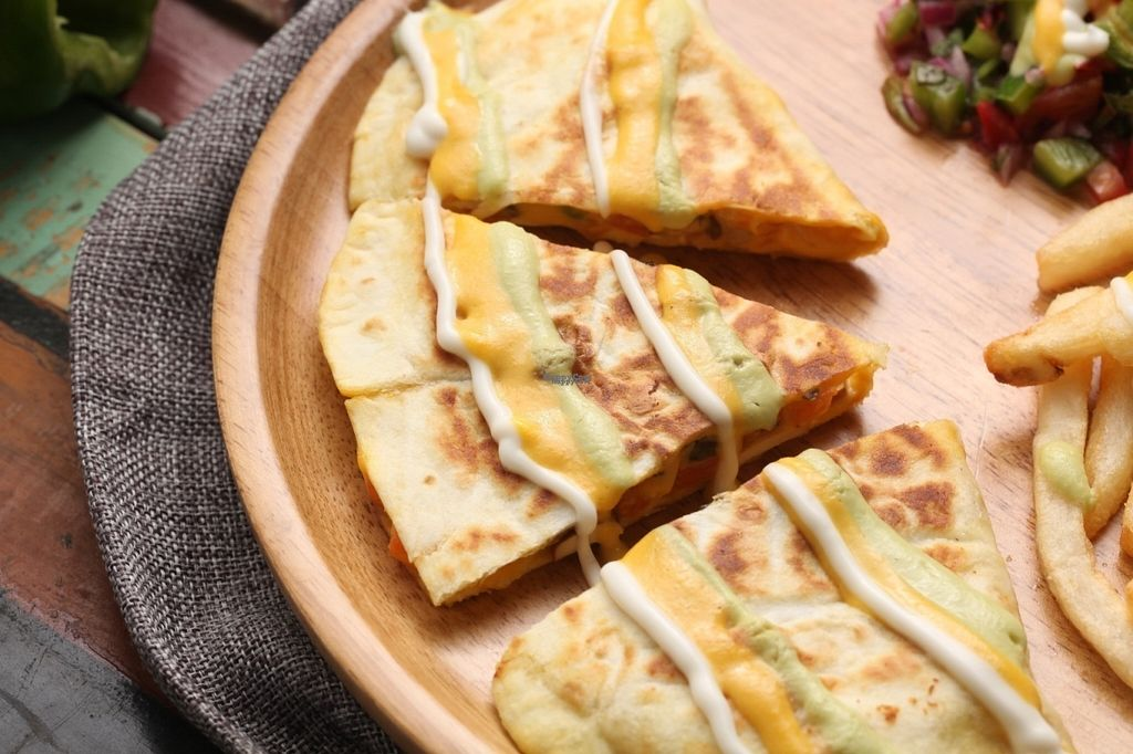 """Photo of Tofunia  by <a href=""""/members/profile/LoriFromAbroad26"""">LoriFromAbroad26</a> <br/>Vegan Quesadilla by Tofunia <br/> October 11, 2016  - <a href='/contact/abuse/image/80747/181292'>Report</a>"""