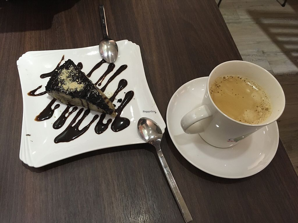 "Photo of Tofunia  by <a href=""/members/profile/Npczski"">Npczski</a> <br/>Chocolate cheesecake and black coffee <br/> January 2, 2018  - <a href='/contact/abuse/image/80747/341952'>Report</a>"