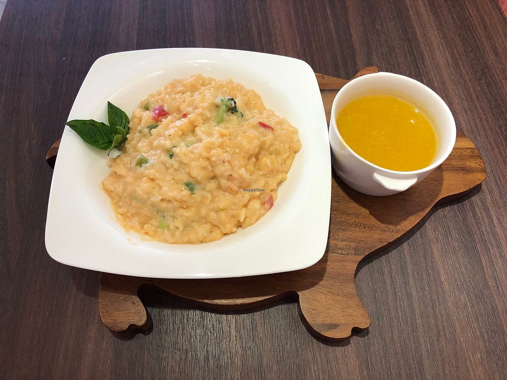 """Photo of Tofunia  by <a href=""""/members/profile/Dai"""">Dai</a> <br/>Cheese vegetable Risotto (with soup) <br/> March 16, 2018  - <a href='/contact/abuse/image/80747/371221'>Report</a>"""