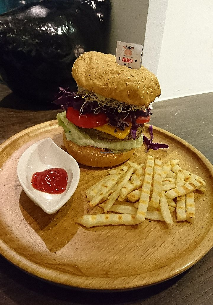 """Photo of Tofunia  by <a href=""""/members/profile/V-for-Vegan"""">V-for-Vegan</a> <br/>Mushroom Burger <br/> March 24, 2018  - <a href='/contact/abuse/image/80747/375227'>Report</a>"""