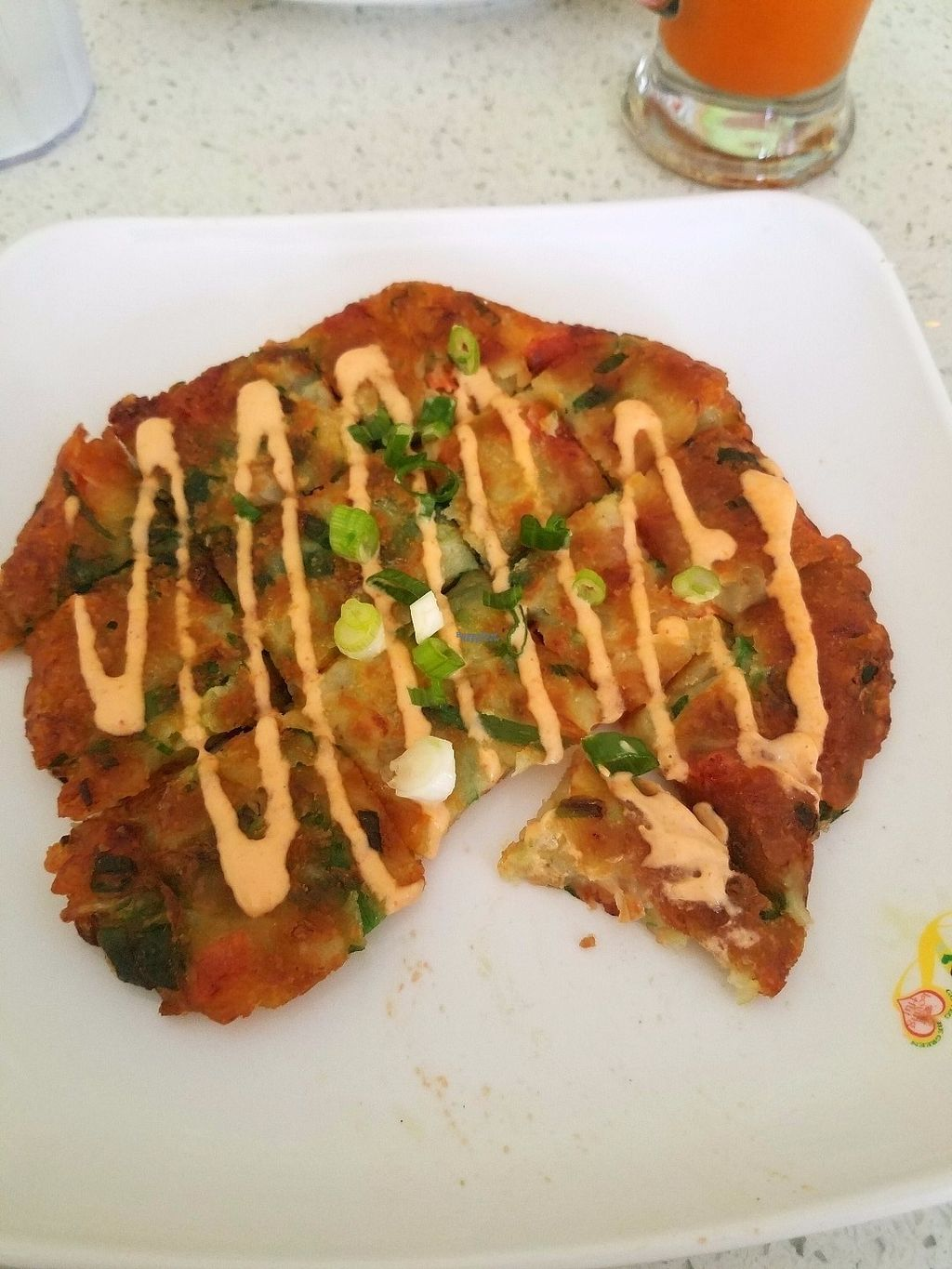 """Photo of Loving Hut  by <a href=""""/members/profile/AshleyBeckwith"""">AshleyBeckwith</a> <br/>Pajeon. Amazing! Almost like a potato pancake <br/> October 20, 2016  - <a href='/contact/abuse/image/80749/183227'>Report</a>"""