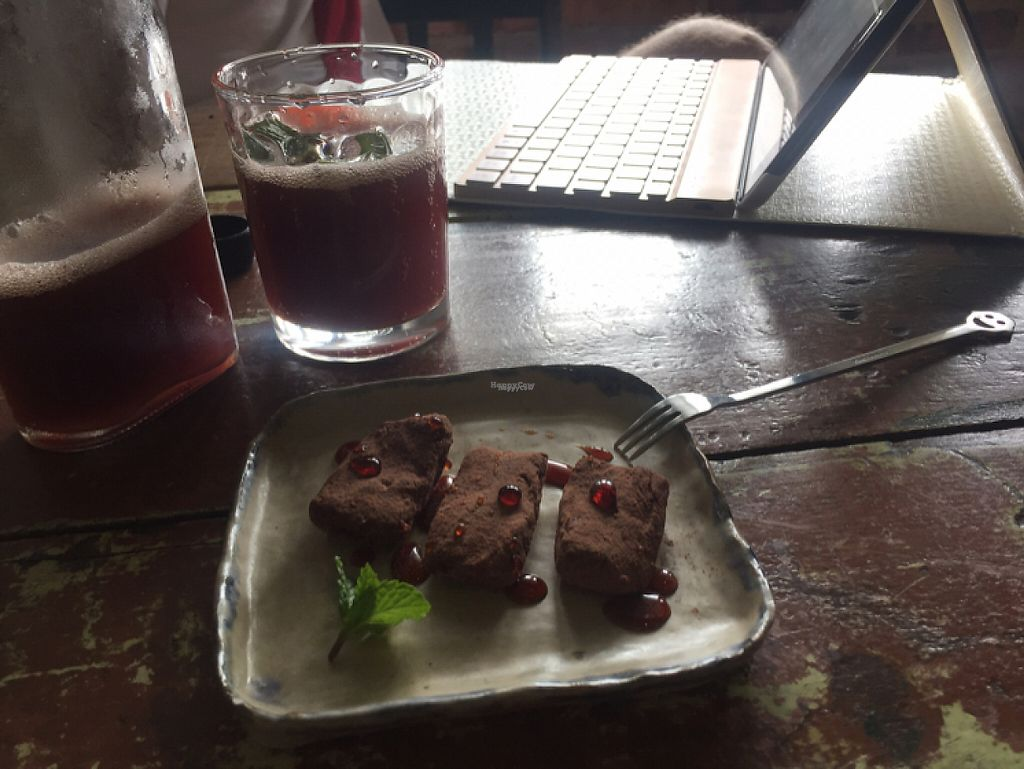 """Photo of Pantree  by <a href=""""/members/profile/jozborn"""">jozborn</a> <br/>Grape and Kefir drink with the raw brownie. very tasty!! <br/> January 18, 2017  - <a href='/contact/abuse/image/80767/212995'>Report</a>"""