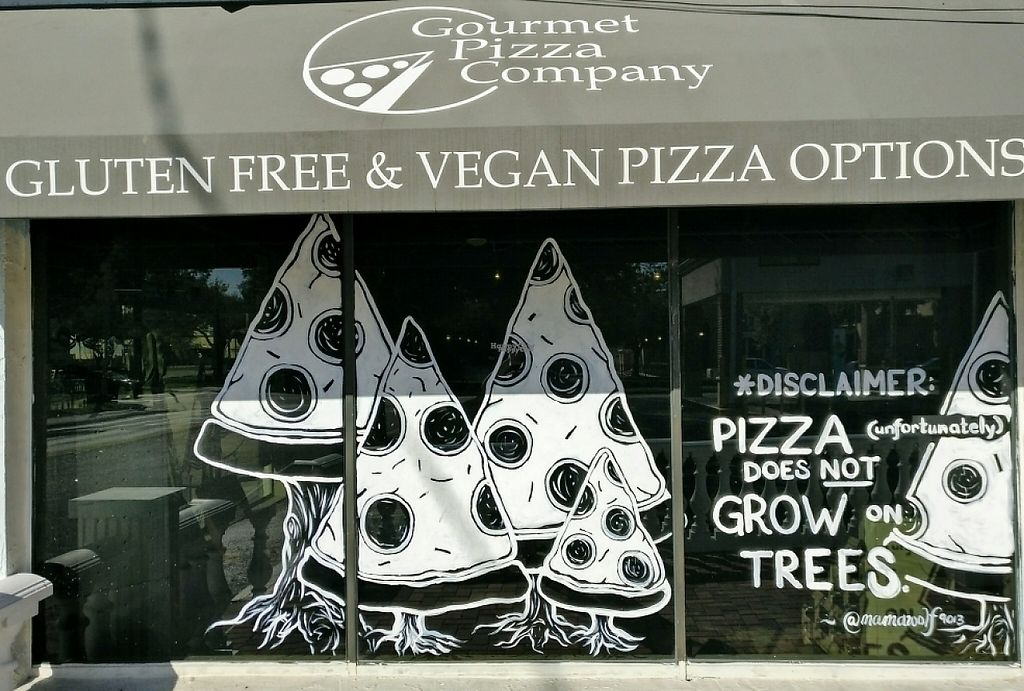 """Photo of Gourmet Pizza Company  by <a href=""""/members/profile/Callummcgill"""">Callummcgill</a> <br/>Storefront vegan advertising  <br/> January 11, 2017  - <a href='/contact/abuse/image/8076/210756'>Report</a>"""