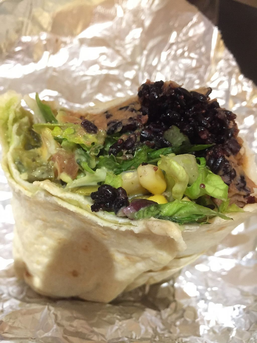 """Photo of Zambrero  by <a href=""""/members/profile/healthierlaura"""">healthierlaura</a> <br/>Qi I think it's called I asked for half the amount of black rice. so yummy  <br/> July 13, 2017  - <a href='/contact/abuse/image/80774/279763'>Report</a>"""
