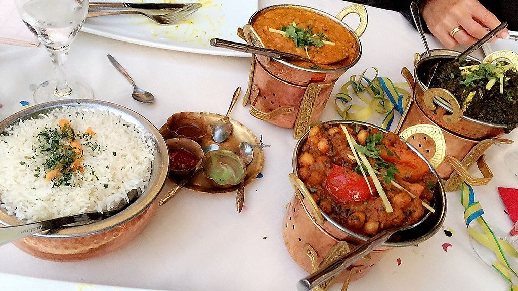 """Photo of Taste of India  by <a href=""""/members/profile/AnnaEmi"""">AnnaEmi</a> <br/>rice + 2 vegan mains  <br/> December 3, 2017  - <a href='/contact/abuse/image/80779/332307'>Report</a>"""