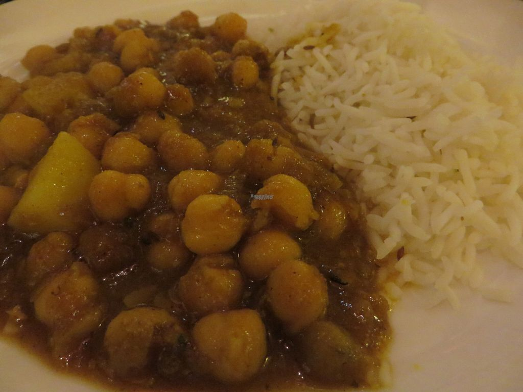 """Photo of Star of India  by <a href=""""/members/profile/VegiAnna"""">VegiAnna</a> <br/>no. 35 channa vandaloo (chickpeas, potatoes, fresh tomatoes, onions, garlic, ginger, hot masala sauce, basmati rice) (vegan) <br/> October 12, 2016  - <a href='/contact/abuse/image/80805/181555'>Report</a>"""