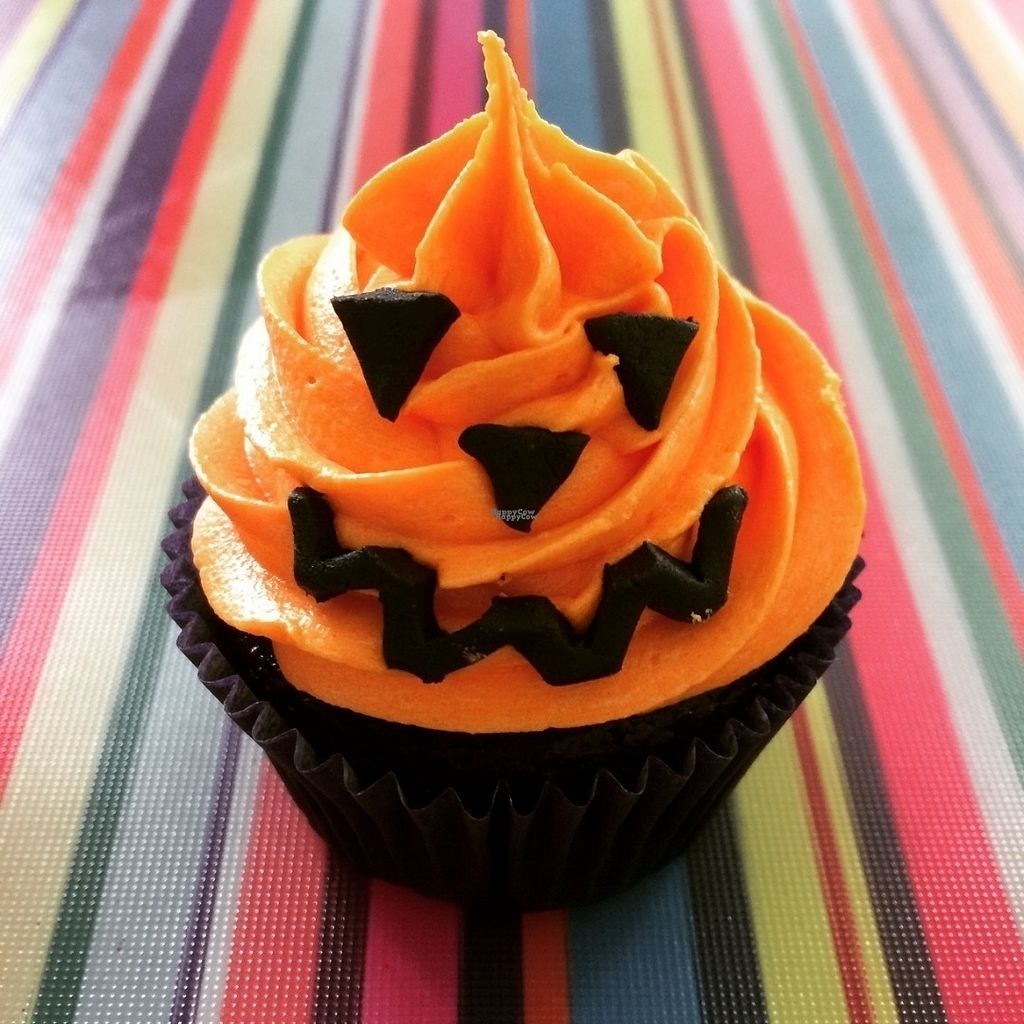 "Photo of Gorgosaurus Vegan Bakery  by <a href=""/members/profile/Gorgosaurus"">Gorgosaurus</a> <br/>Scary'S Chocolate Orange Halloween Cupcake <br/> October 4, 2016  - <a href='/contact/abuse/image/80821/179670'>Report</a>"