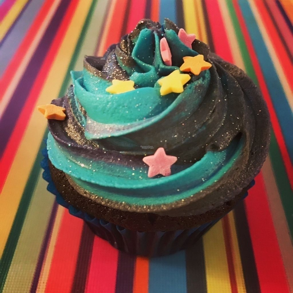 "Photo of Gorgosaurus Vegan Bakery  by <a href=""/members/profile/Gorgosaurus"">Gorgosaurus</a> <br/>2001: A Cake Odyssey Galaxy Cupcake <br/> October 4, 2016  - <a href='/contact/abuse/image/80821/179671'>Report</a>"