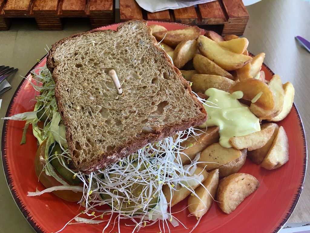 "Photo of Delicias y Namaste  by <a href=""/members/profile/swampgirl67"">swampgirl67</a> <br/>Super yummy sandwich  <br/> April 9, 2018  - <a href='/contact/abuse/image/80824/382839'>Report</a>"