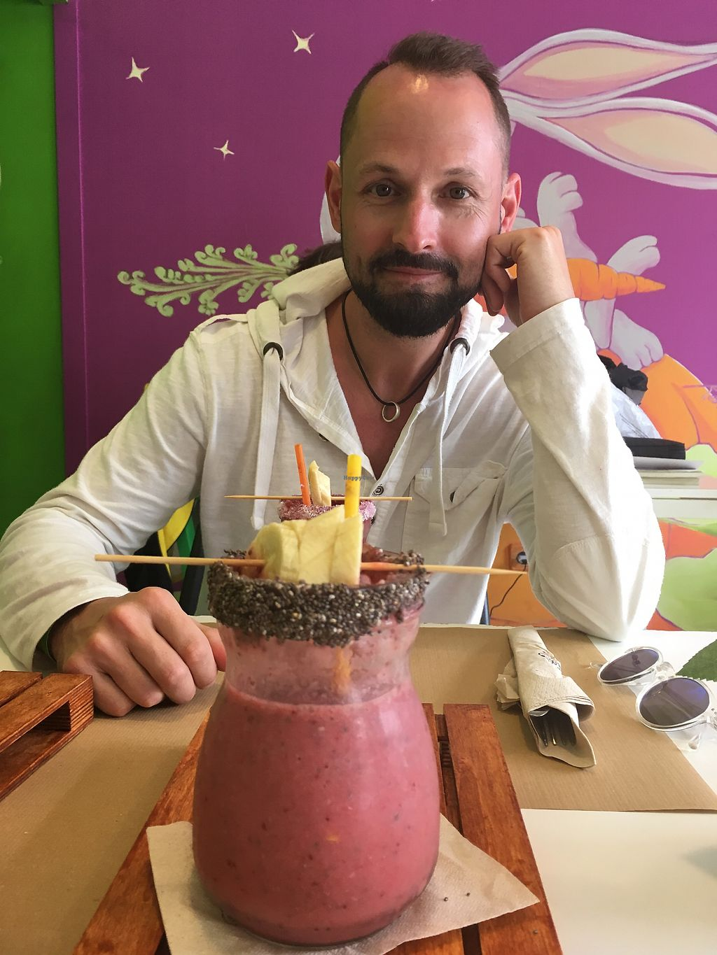 "Photo of Delicias y Namaste  by <a href=""/members/profile/swampgirl67"">swampgirl67</a> <br/>Double yummy smoothies  <br/> April 9, 2018  - <a href='/contact/abuse/image/80824/382841'>Report</a>"