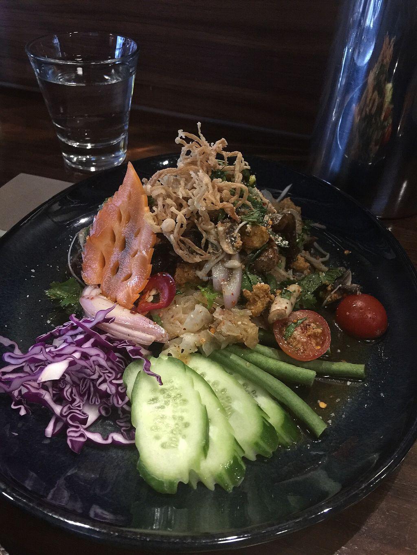 "Photo of Holy Basil Thai  by <a href=""/members/profile/JulieStevens"">JulieStevens</a> <br/>Thai Laab warm mushroom salad <br/> November 2, 2017  - <a href='/contact/abuse/image/80844/321029'>Report</a>"