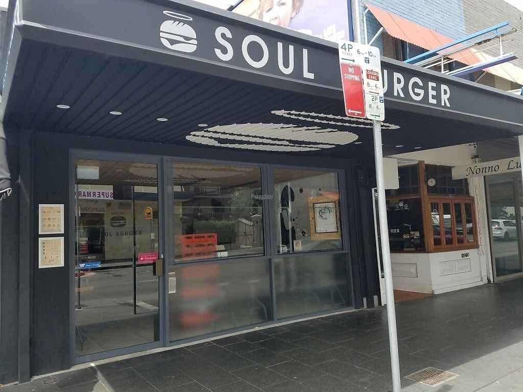 "Photo of Soul Burger - Glebe  by <a href=""/members/profile/EverydayTastiness"">EverydayTastiness</a> <br/>outside <br/> January 1, 2017  - <a href='/contact/abuse/image/80851/206902'>Report</a>"