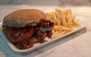 """Photo of VeganStore  by <a href=""""/members/profile/community"""">community</a> <br/>vegan burger  <br/> October 5, 2016  - <a href='/contact/abuse/image/80878/179819'>Report</a>"""