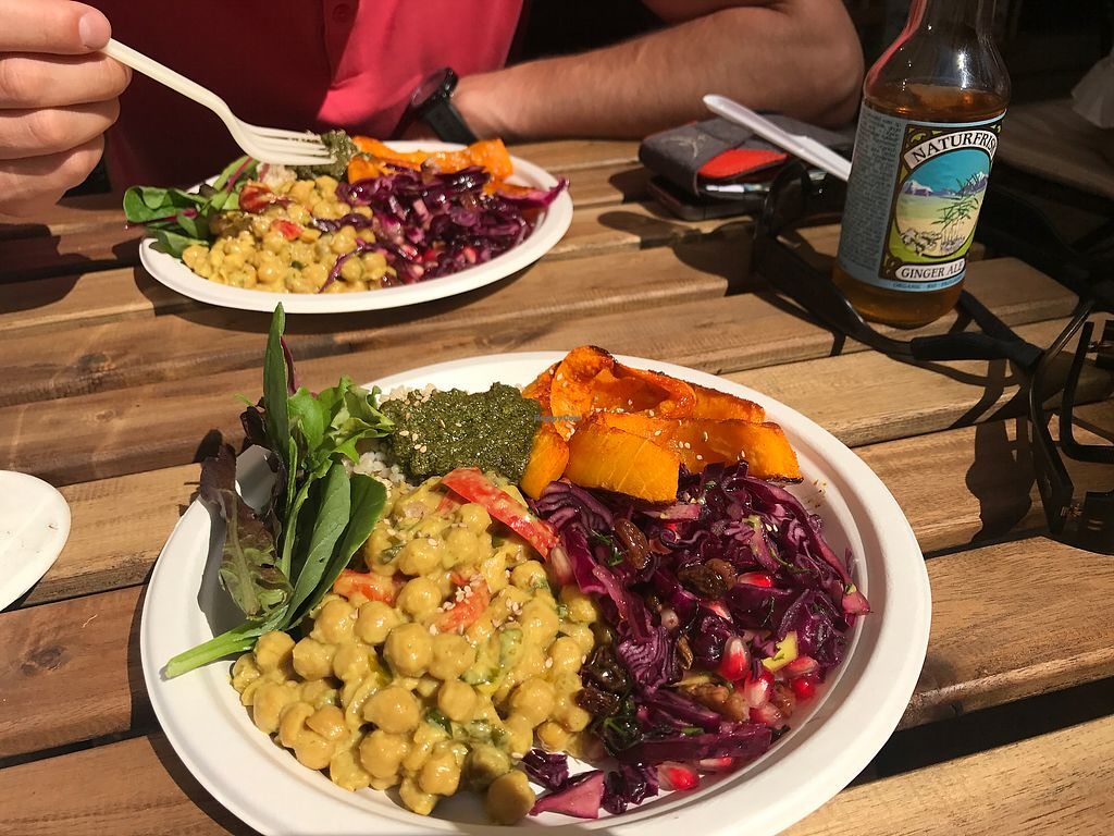 "Photo of RawAttitude  by <a href=""/members/profile/Kamcha"">Kamcha</a> <br/>Chickpeas curry with brown garlic rice and red cabbage, kale pesto <br/> September 21, 2017  - <a href='/contact/abuse/image/80893/306858'>Report</a>"
