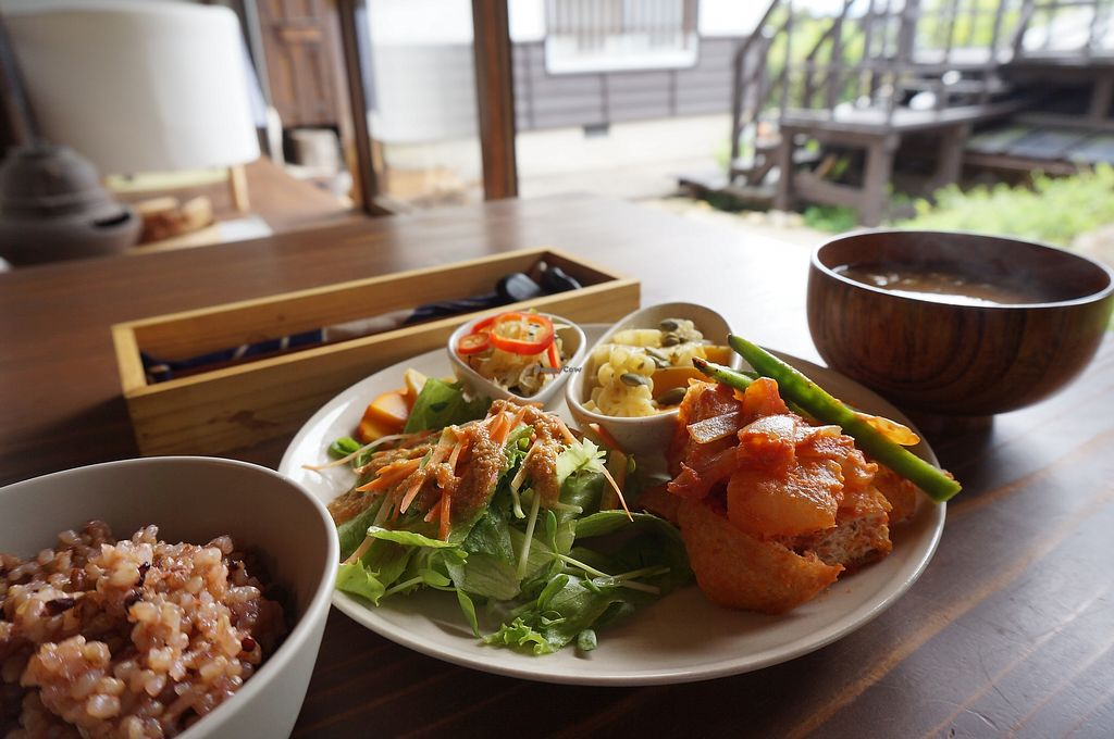 """Photo of Manaina Vege Cafe and Gallery  by <a href=""""/members/profile/Tomomi13"""">Tomomi13</a> <br/>vegan lunch set <br/> April 3, 2018  - <a href='/contact/abuse/image/80929/380060'>Report</a>"""