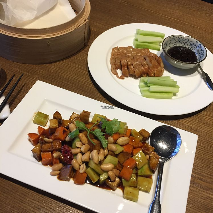 """Photo of Vegelife  by <a href=""""/members/profile/AnaVEGANA"""">AnaVEGANA</a> <br/>Kung Pao No Chicken & Beijing No Duck <br/> October 8, 2016  - <a href='/contact/abuse/image/80947/180546'>Report</a>"""