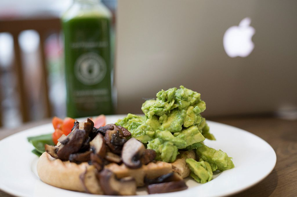 """Photo of CLOSED: Juice Garden - Renfield St  by <a href=""""/members/profile/Mannypanther"""">Mannypanther</a> <br/>Avocado Toast & Mushroom <br/> December 4, 2016  - <a href='/contact/abuse/image/80955/197328'>Report</a>"""