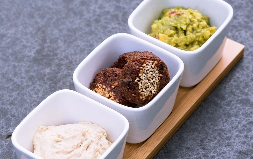 """Photo of Yumm'eat  by <a href=""""/members/profile/MARYAS1202"""">MARYAS1202</a> <br/>Our vegan appetizer relies on home-made hummus, leguminous-based oriental treasures, and guacamole. It's all natural, all healthy, & all yummy ! <br/> October 4, 2016  - <a href='/contact/abuse/image/80958/179621'>Report</a>"""