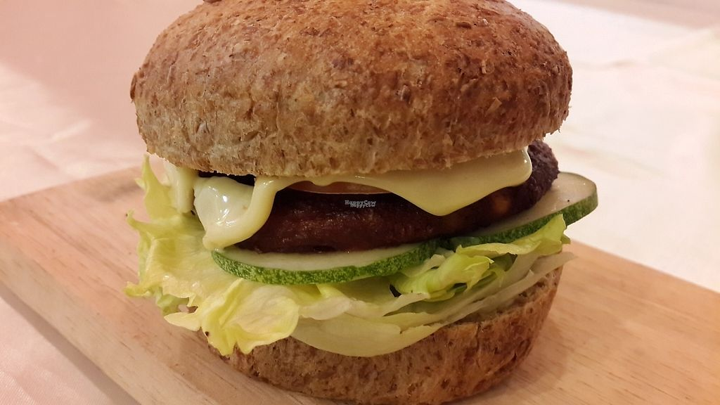 """Photo of CLOSED: Sunfresh Cafe/Detox Kitchen  by <a href=""""/members/profile/SunfreshCafe"""">SunfreshCafe</a> <br/>Vegetarian Burger with Organic Vege Patty & Flour-free Sprouted Bun from AdventisBakery <br/> January 21, 2017  - <a href='/contact/abuse/image/80994/214146'>Report</a>"""