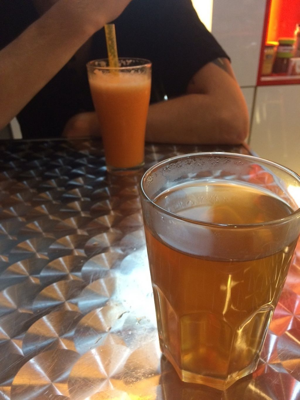 """Photo of CLOSED: Sunfresh Cafe/Detox Kitchen  by <a href=""""/members/profile/sydneyhumble"""">sydneyhumble</a> <br/>Carrot orange juice and super detox tea  <br/> March 21, 2017  - <a href='/contact/abuse/image/80994/239065'>Report</a>"""