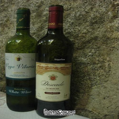 """Photo of Artemisa Huertas - Cortes  by <a href=""""/members/profile/paypar"""">paypar</a> <br/>Unlimited wine with lunch! These were the two bottles plunked down onto our table.  Red for me, white for my husband <br/> December 22, 2011  - <a href='/contact/abuse/image/8099/14399'>Report</a>"""