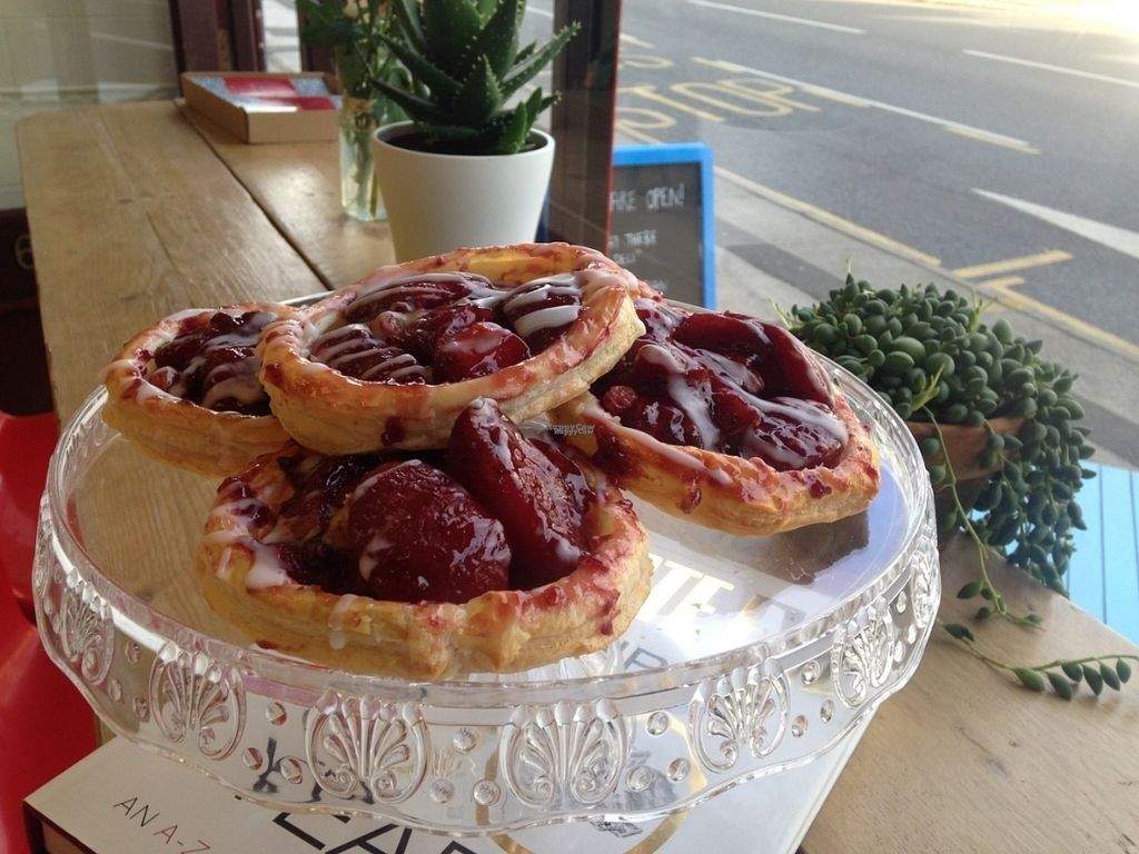 """Photo of That There Deli  by <a href=""""/members/profile/ThatThereDeli"""">ThatThereDeli</a> <br/>Plum & apple tart, £1.80, vegan friendly  <br/> October 6, 2016  - <a href='/contact/abuse/image/81019/180081'>Report</a>"""
