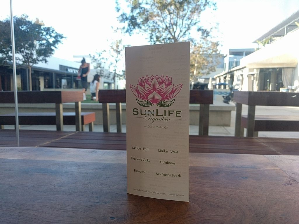 """Photo of SunLife Organics  by <a href=""""/members/profile/MatthewVBogusz"""">MatthewVBogusz</a> <br/>beautiful menu <br/> October 5, 2016  - <a href='/contact/abuse/image/81021/179892'>Report</a>"""